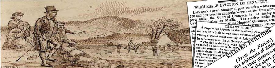 Irish Famine Eviction Project sponsored by Irish Newspaper ARCHIVES